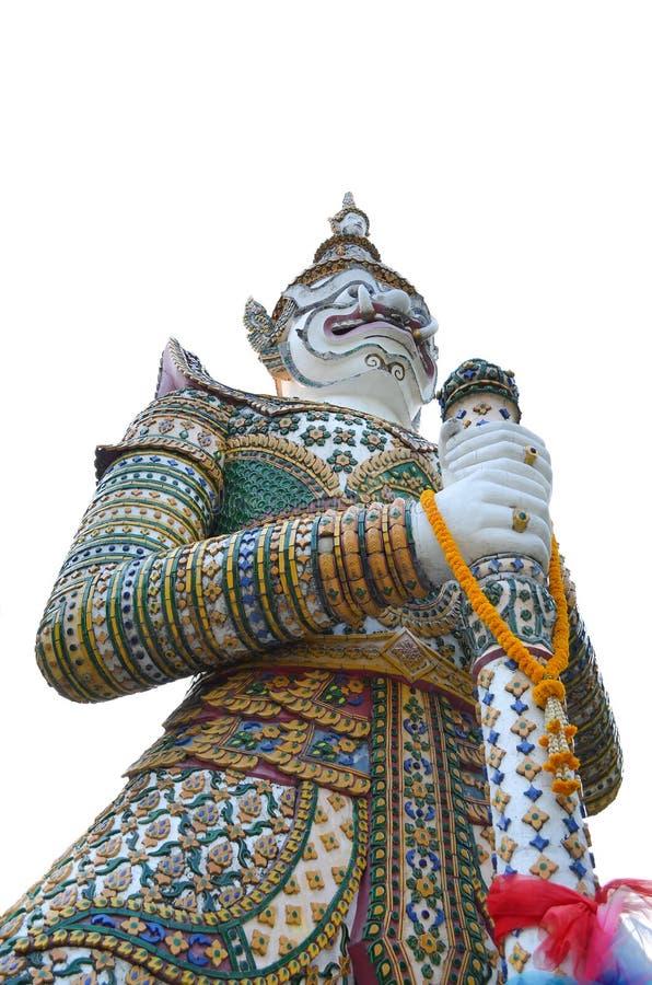 Gigante antigo tailandês no arun do wat imagem de stock