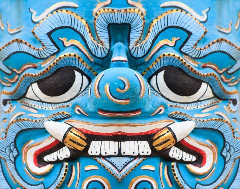 Gigante azul tailandês antigo da face imagem de stock