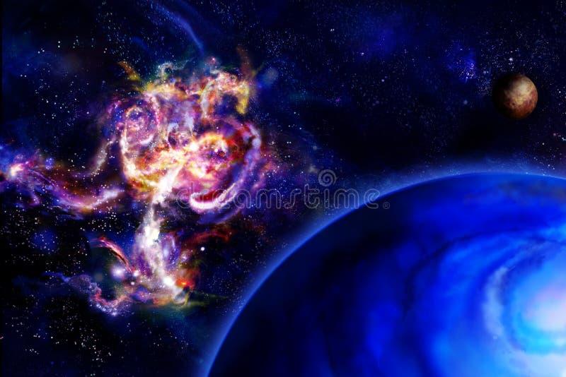 Gigante da nebulosa e de gás ilustração stock
