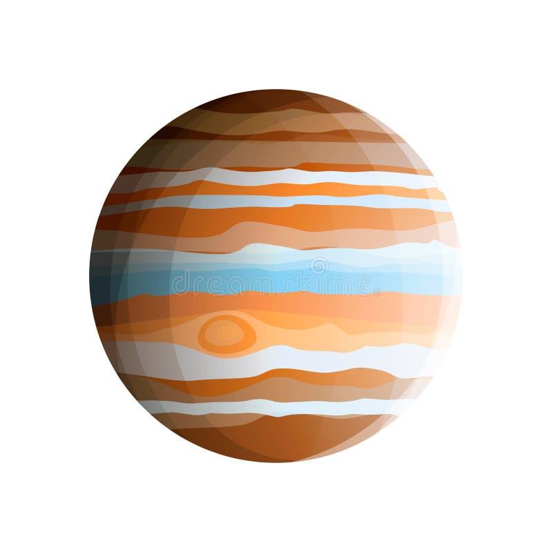 Gigante de gás - o planeta o mais grande do sistema solar do Júpiter do planeta ilustração royalty free