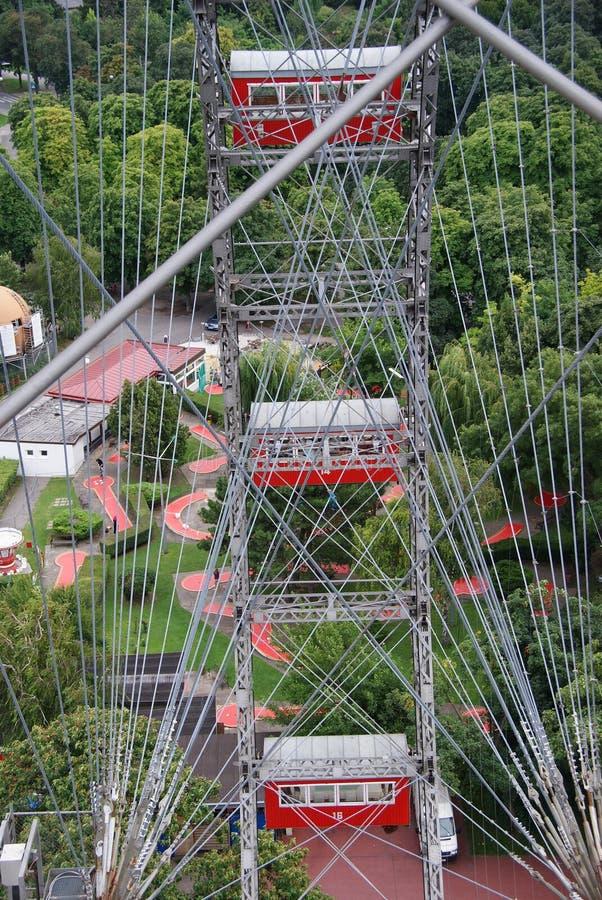 Gigante Ferris Wheel a Prater a Vienna immagine stock libera da diritti