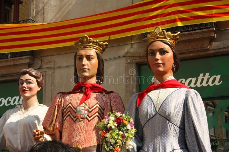 Gigante nei festival tradizionali Barcellona. immagini stock