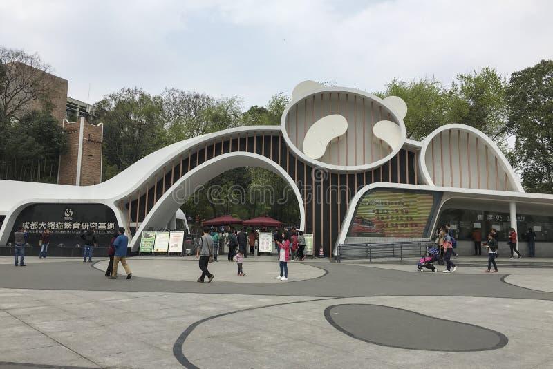 Gigante Panda Breeding Center de Chengdu, China imagem de stock