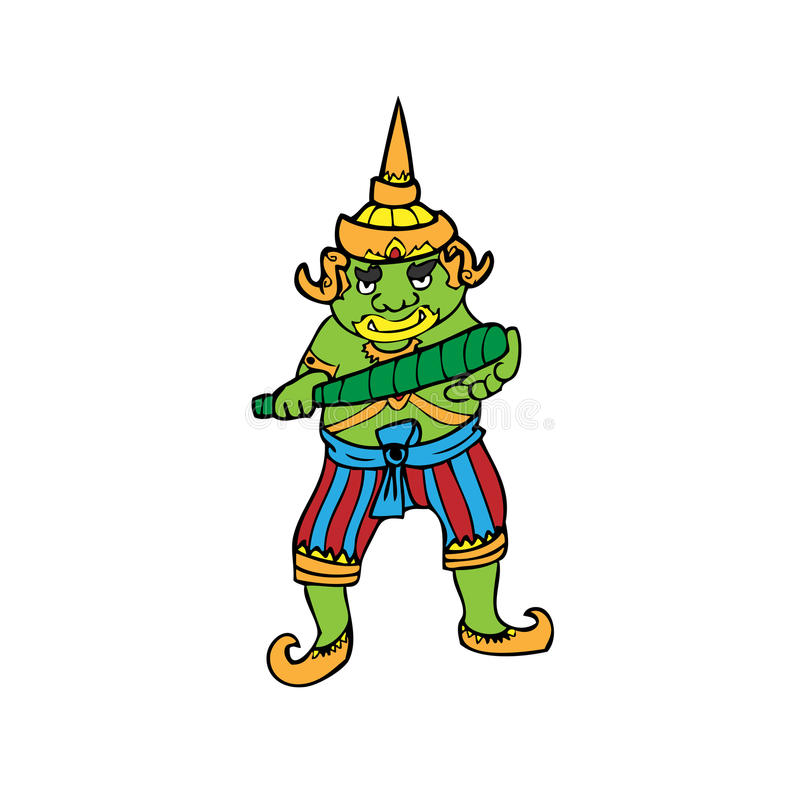 Gigante tailandês ilustração do vetor