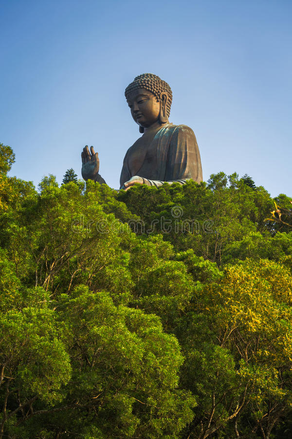 Gigante Tian Tan Buddha em Hong Kong imagem de stock royalty free