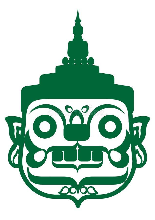 Gigante verde ilustração do vetor