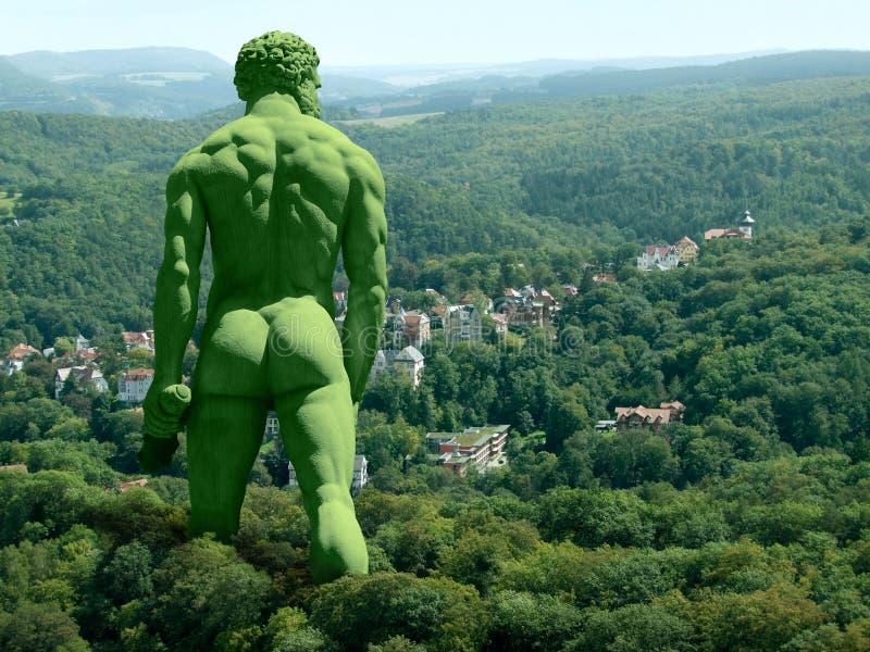 Gigante verde fotografia de stock
