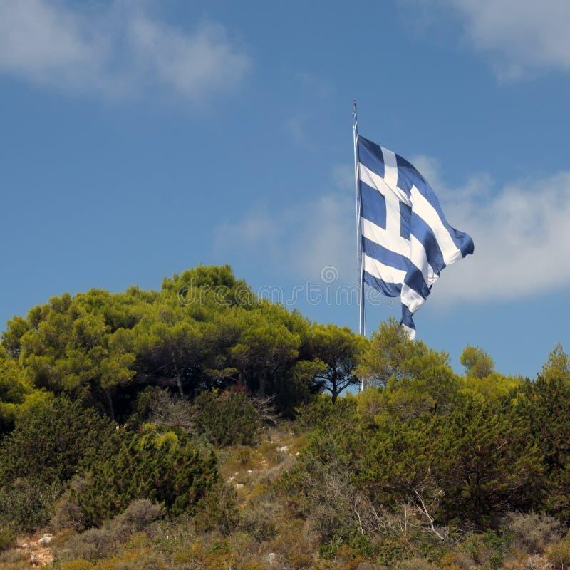 Download Gigantic greek flag stock photo. Image of gigantic, hill - 19047040