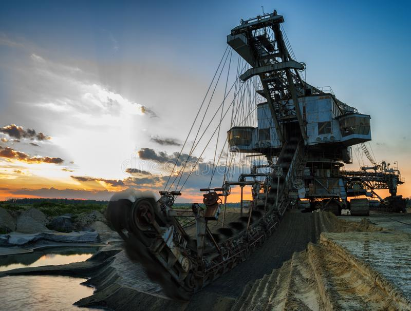 Gigantic industrial machine. Medium format pentax horizontal grunge cyberpunk zombie no people vivid color composition sparse summer single object heavy stock images