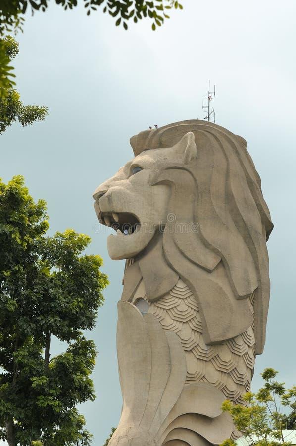 Download Gigantic Merlion monument editorial photo. Image of unique - 20249451