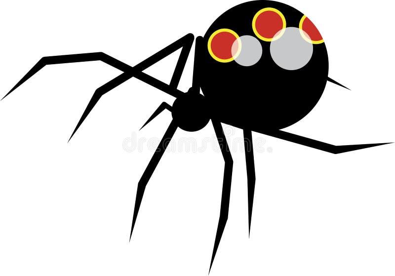 Gigantic spider. Vector of black gigantic spider royalty free illustration