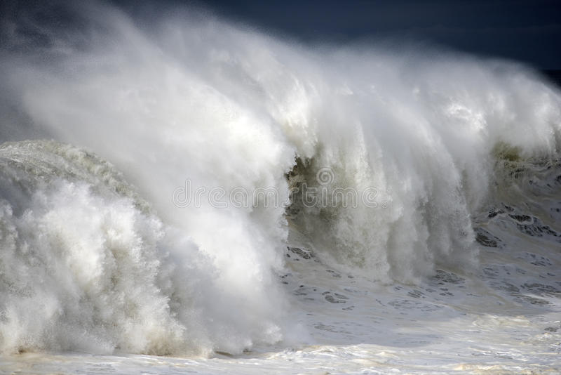 Gigantic wave breaking royalty free stock photo