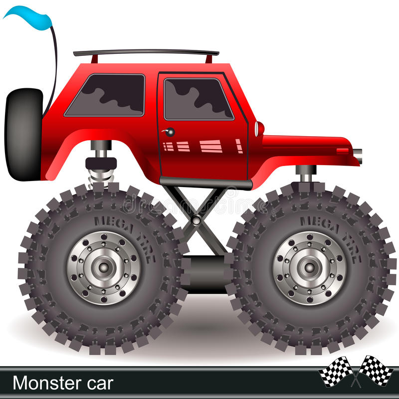 Gigantisk bil vektor illustrationer