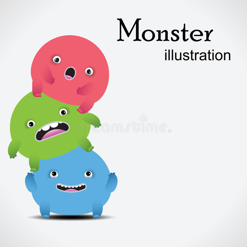 Gigantisk illustration vektor illustrationer