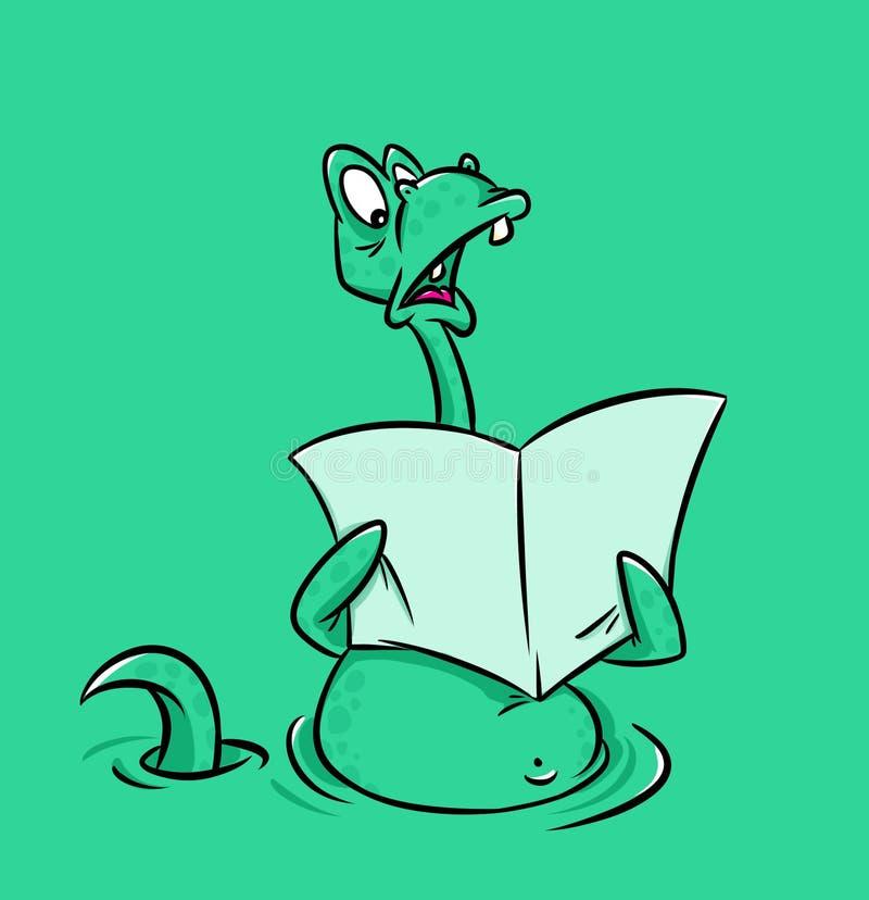 Loch Nessmonster stock illustrationer
