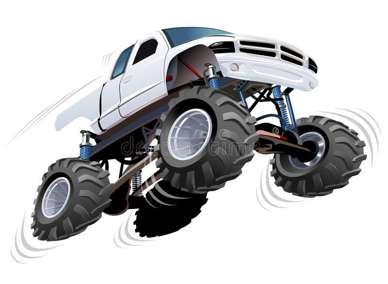 Gigantisk lastbil stock illustrationer