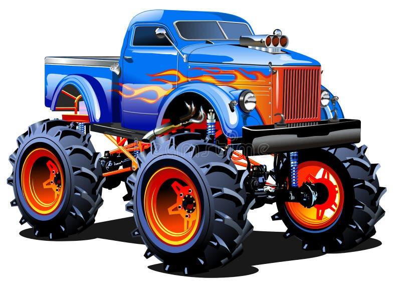 Gigantisk lastbil för tecknad film stock illustrationer