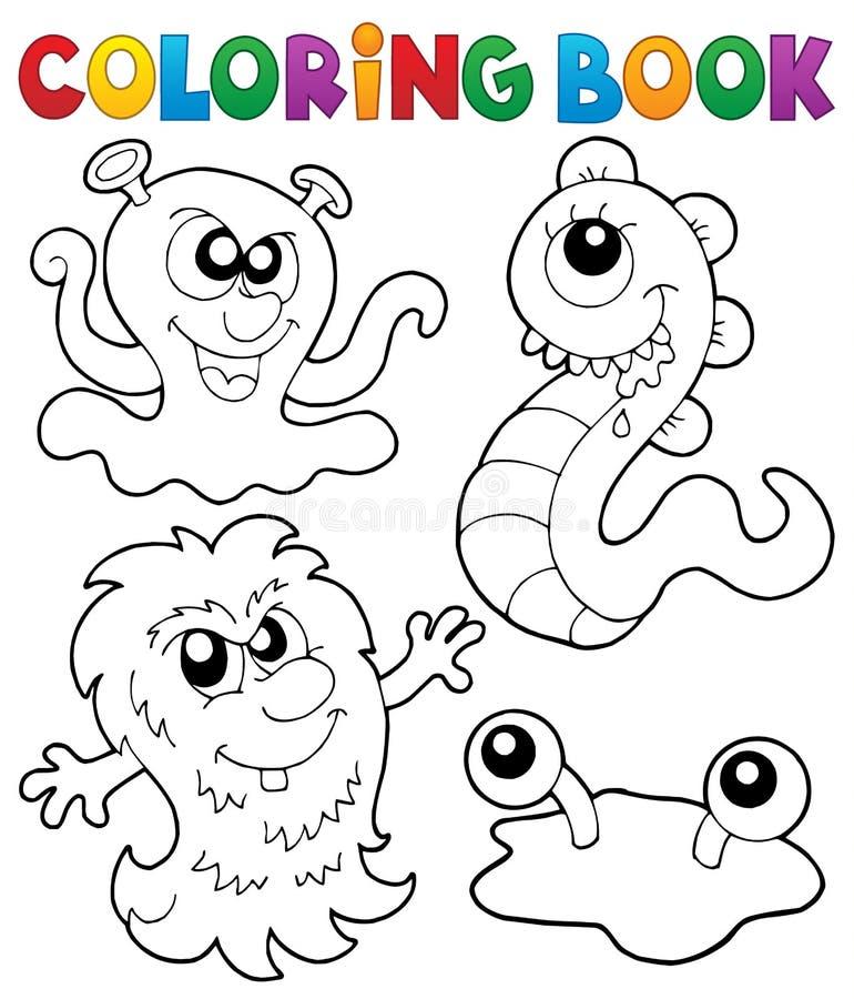 Gigantiskt tema 3 för färgläggningbok royaltyfri illustrationer