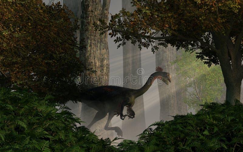 Gigantoraptor иллюстрация штока