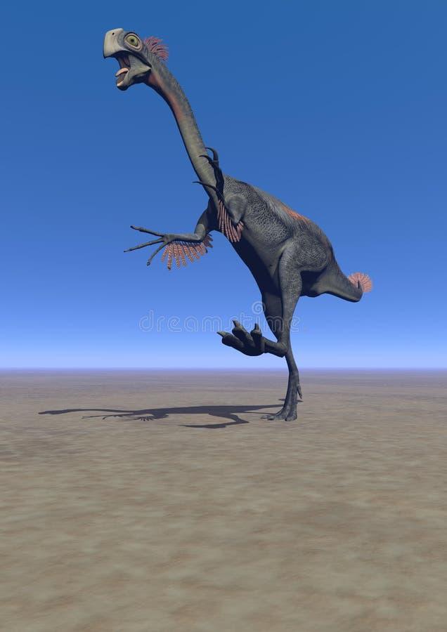 Gigantoraptor de dinosaure illustration libre de droits
