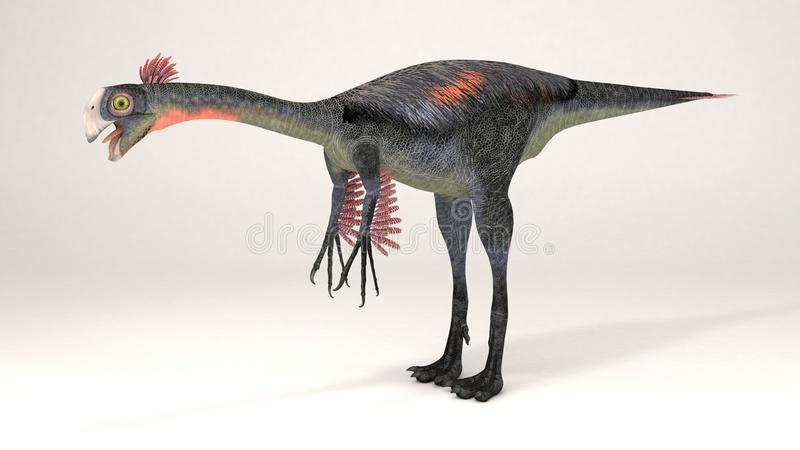 Gigantoraptor-dinosaure illustration libre de droits