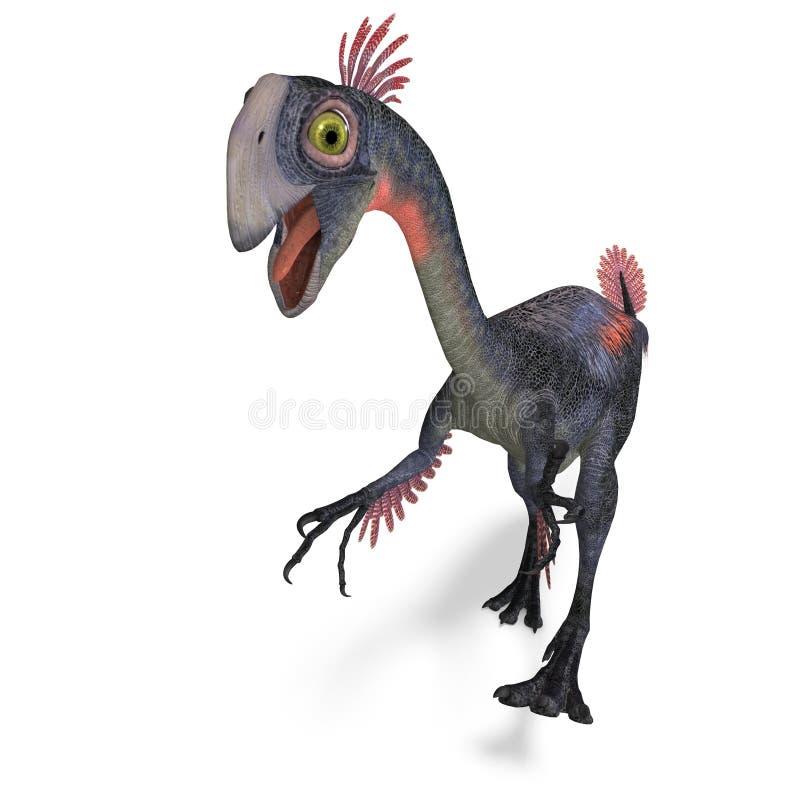 Gigantoraptor gigante del dinosauro illustrazione di stock