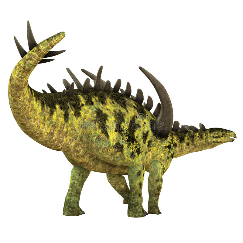 Gigantspinosaurus dinosaura ogon royalty ilustracja