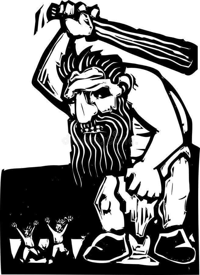 Gigantyczna Błyszczka ilustracja wektor