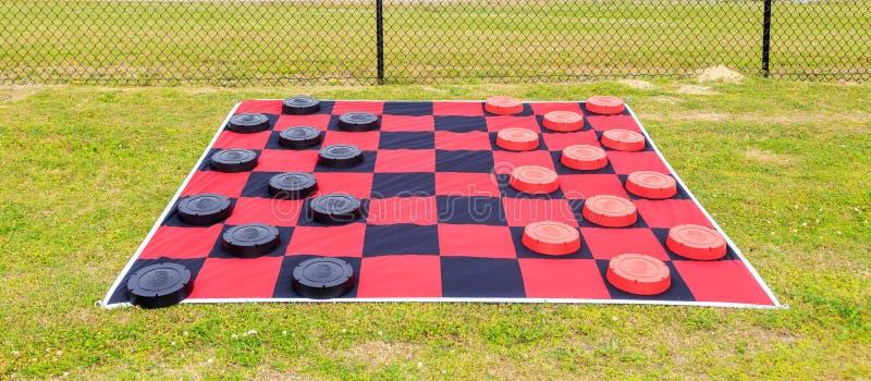 Gigantyczna Checker deska zdjęcia stock
