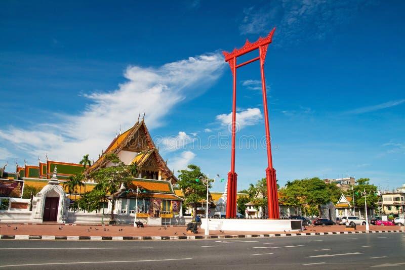 Gigantyczna huśtawka, Sutat świątynia, Bangkok fotografia stock