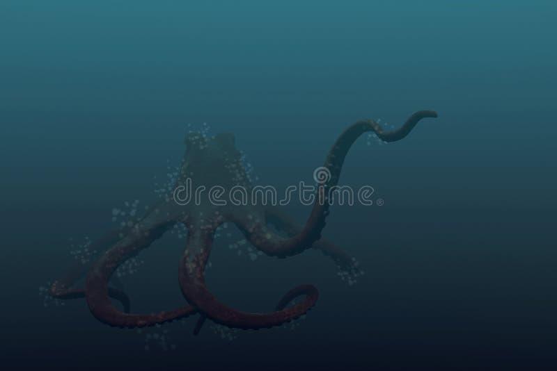gigantyczna ośmiornica ilustracja wektor