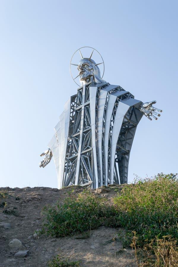 Gigantyczna statua jezus chrystus obraz stock