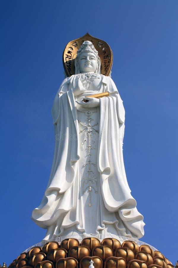 Gigantyczna statua Kuan-Yin w Sanya, Hainan (Chiny) obraz stock