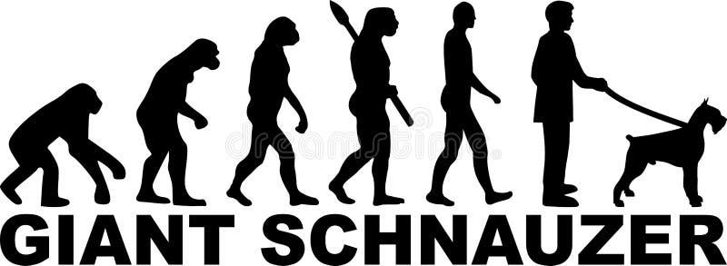 Gigantycznego Schnauzer ewolucja z imieniem ilustracja wektor