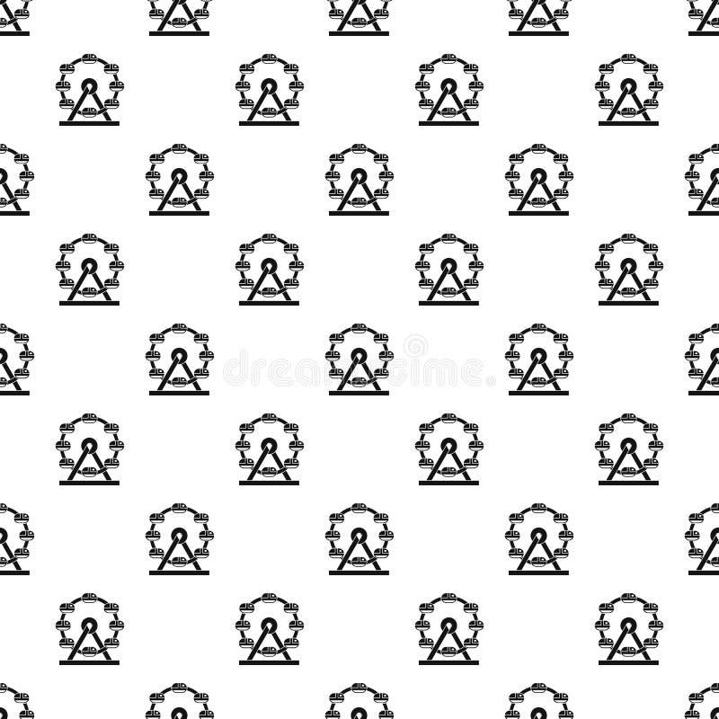 Gigantyczny ferris koła wzoru wektor ilustracja wektor