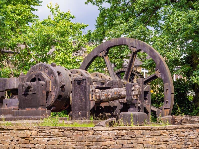 Gigantyczny kawałek stara metalu i drewna maszyneria w Anglia zdjęcie royalty free