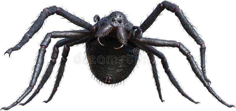 Gigantyczny potwora pająk, insekt, Odizolowywający ilustracja wektor