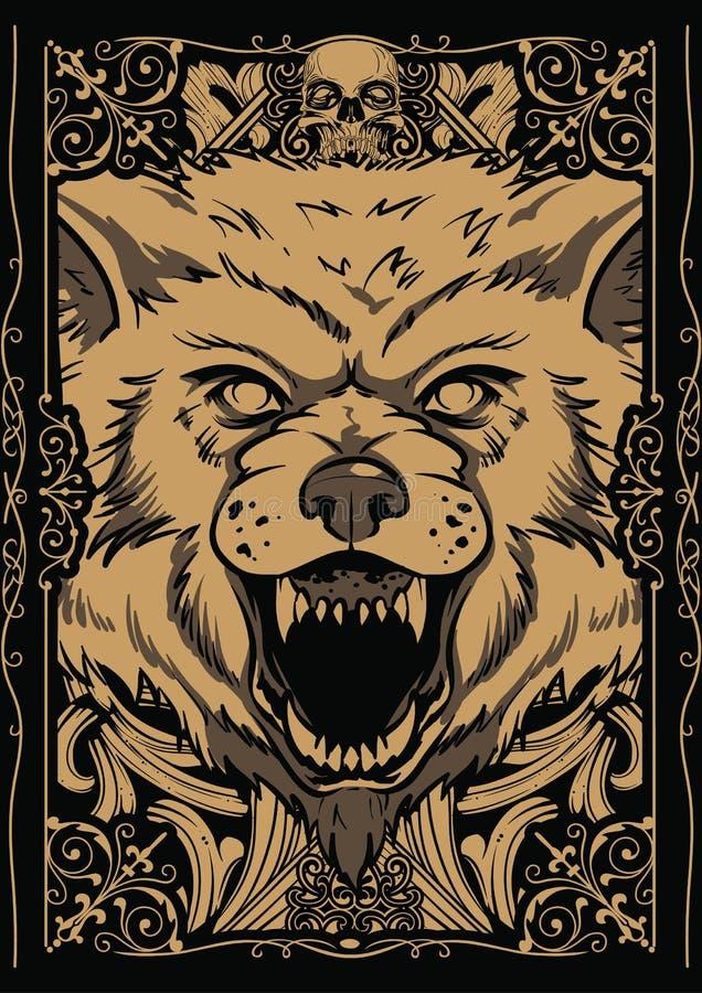 Gigantyczny wilk ilustracji
