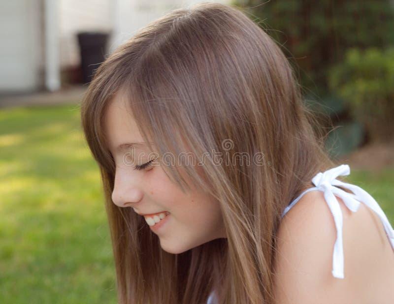 Download Giggles stock image. Image of teen, profile, smile, giggle - 15202235