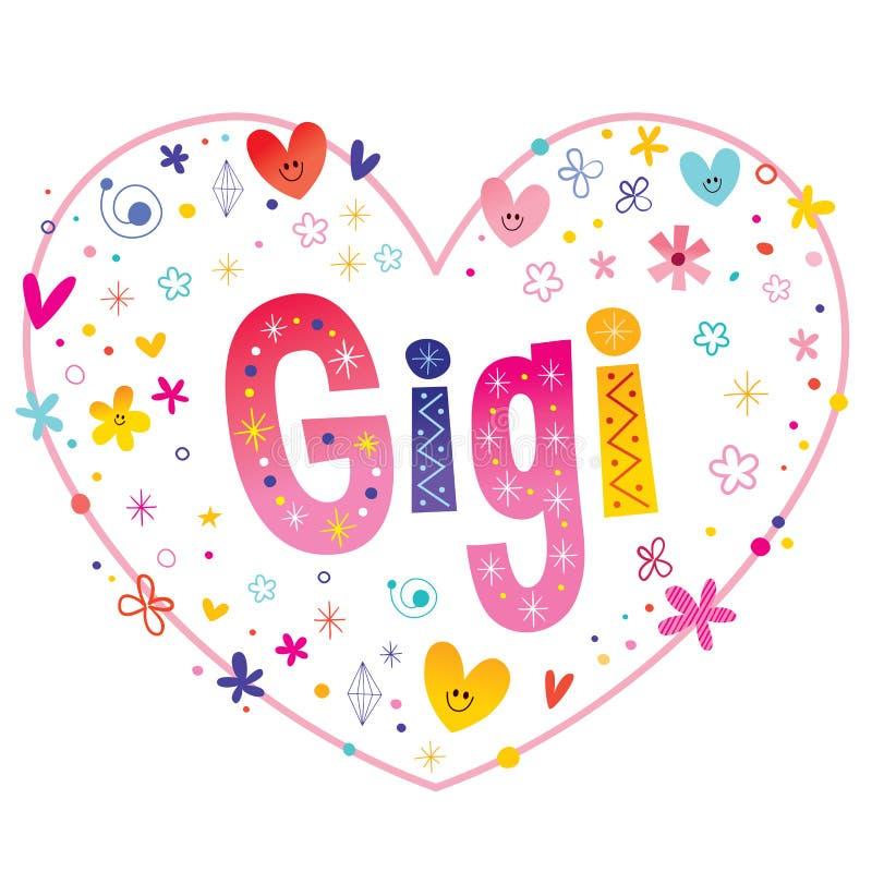 Gigi - meisjesnaam royalty-vrije illustratie