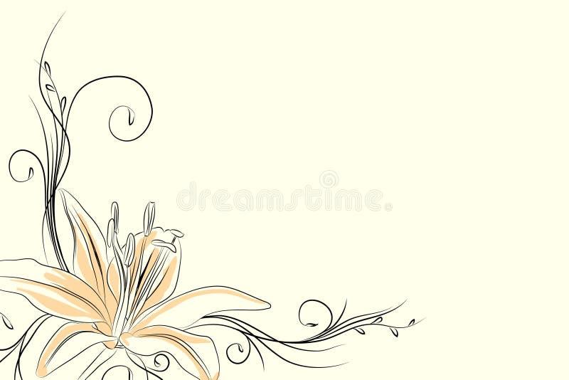 Giglio del profilo illustrazione vettoriale