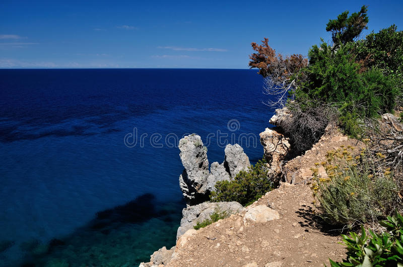 Giglio Island, ocean view, Italy. Giglio Island, cliffs and ocean view, Italy stock photography