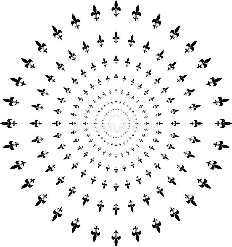 Giglio in ornamento tradizionale del cerchio royalty illustrazione gratis