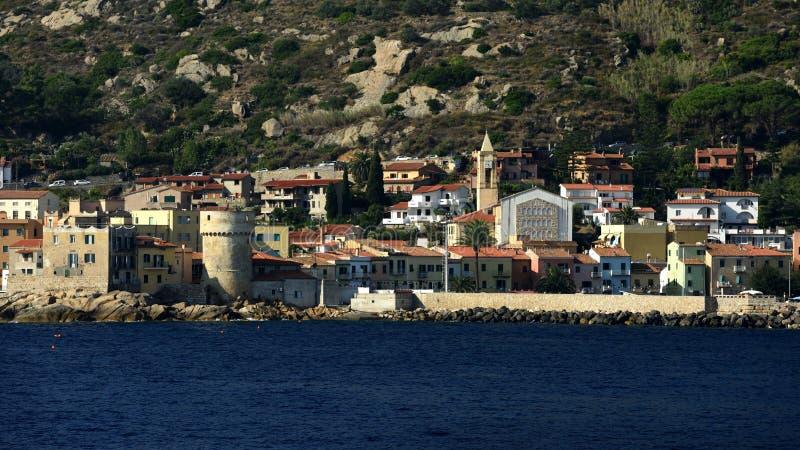Giglio Porto, Tuscany, Włochy obraz royalty free