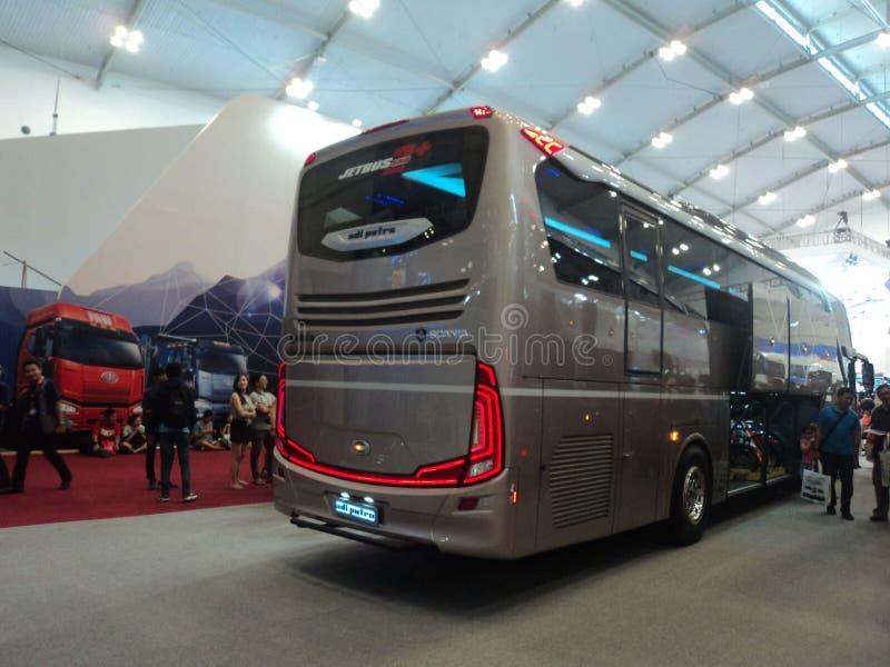 GIIAS 2015 - Bus Master Race - SCANIA K360ib . Ice, Bsd, Tangerang, Banten, Indonesian. Giias 2015 - bus master race - scania k360ib stock image
