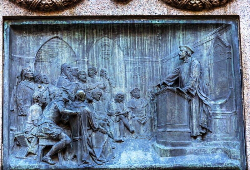 Giiordano Bruno Speaking Statue Campo de& x27; Fiori Rome Italië royalty-vrije stock afbeeldingen