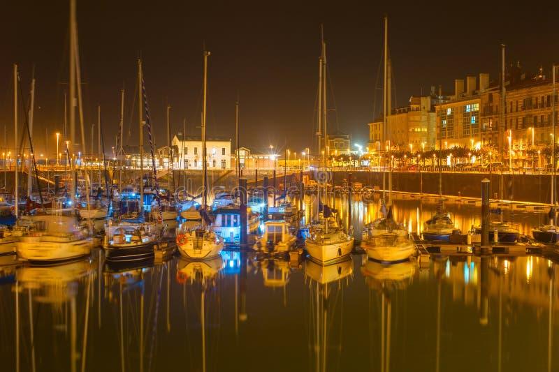 Gijon-Jachthafen mit Yachten, Spanien stockbilder