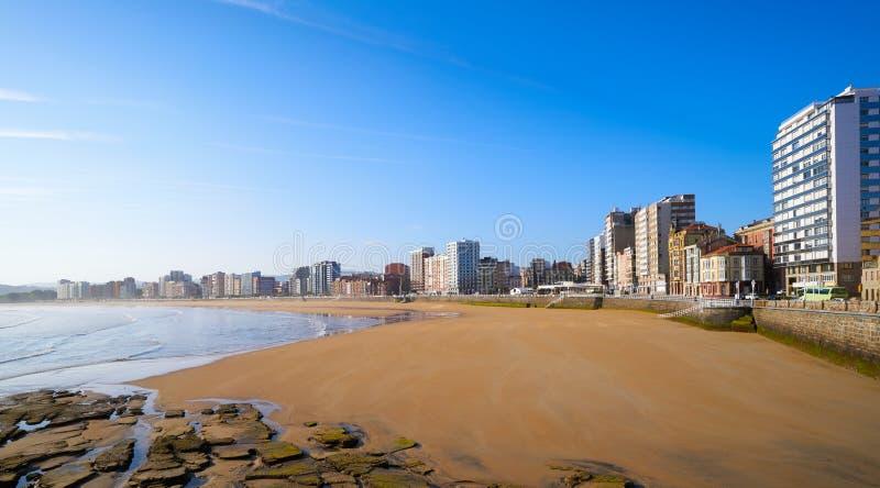 Gijon playa San Lorenzo beach Asturias Spain. Gijon playa San Lorenzo beach in Asturias Spain stock photos