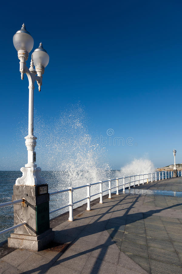 gijon seafront royaltyfria foton
