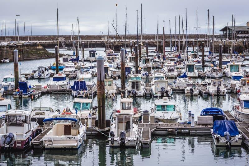 Port in Gijon royalty free stock photos
